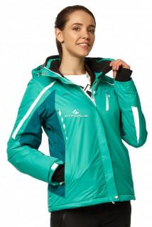 Купить оптом куртку горнолыжную женскую зеленого цвета 1765Z в интернет магазине MTFORCE.RU