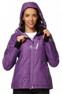 Купить оптом куртку горнолыжную женскую фиолетового цвета 1766F в интернет магазине MTFORCE.RU