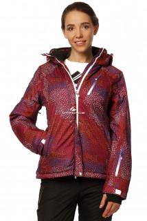 Купить оптом куртку горнолыжную женскую бордового цвета 1766Bo в интернет магазине MTFORCE.RU