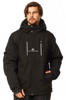 Купить оптом куртку горнолыжную мужская большого размера черного цвета 1767Ch в интернет магазине MTFORCE.RU