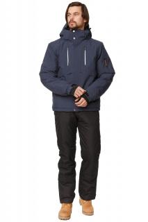 Купить оптом костюм горнолыжный мужской темно-синего цвета 01768TS в интернет магазине MTFORCE.RU