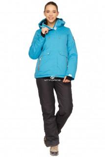 Купить оптом костюм горнолыжный женский голубого цвета 01770Gl в интернет магазине MTFORCE.RU