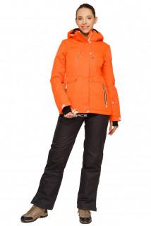 Купить оптом костюм горнолыжный женский оранжевого цвета 01770O в интернет магазине MTFORCE.RU
