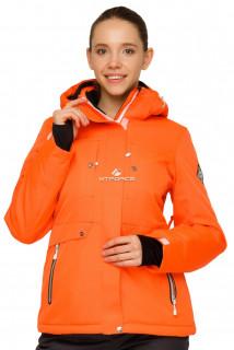 Купить оптом куртку горнолыжную женскую оранжевого цвета 1770О в интернет магазине MTFORCE.RU