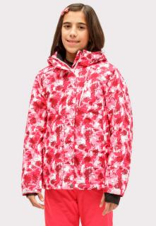 Купить оптом куртка горнолыжная подростковая для девочки розового цвета 1773R в интернет магазине MTFORCE.RU