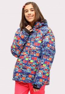 Купить оптом куртка горнолыжная подростковая для девочки оранжевого цвета 1773O в интернет магазине MTFORCE.RU