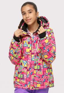 Купить оптом куртка горнолыжная подростковая для девочки розового цвета 1774-1R в интернет магазине MTFORCE.RU