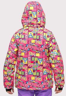 Купить оптом костюм горнолыжный для девочки розового цвета 01774-1R в интернет магазине MTFORCE.RU