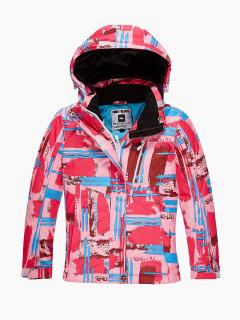 Купить оптом куртка горнолыжная подростковая для девочки розового цвета 1774R в интернет магазине MTFORCE.RU