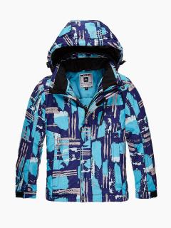 Купить оптом куртка горнолыжная подростковая для девочки голубого цвета 1773Gl в интернет магазине MTFORCE.RU