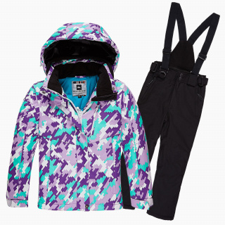 Интернет магазин MTFORCE.ru предлагает купить оптом костюм горнолыжный для девочки фиолетового цвета 01774F по выгодной и доступной цене с доставкой по всей России и СНГ