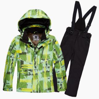 Купить оптом костюм горнолыжный для девочки салатового цвета 01774Sl в интернет магазине MTFORCE.RU