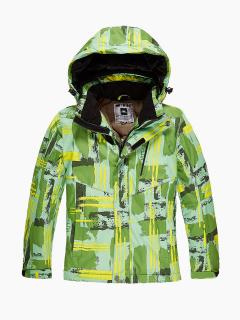 Купить оптом куртка горнолыжная подростковая для девочки салатового цвета 1774Sl в интернет магазине MTFORCE.RU