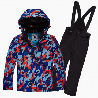 Купить оптом костюм горнолыжный для девочки красного цвета 01774Kr в интернет магазине MTFORCE.RU