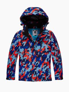 Купить оптом куртка горнолыжная подростковая для девочки красного цвета 1774Kr в интернет магазине MTFORCE.RU