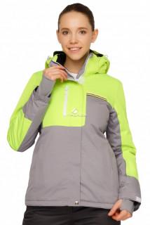 Купить оптом куртку горнолыжную женскую салатового цвета 1777Sl в интернет магазине MTFORCE.RU