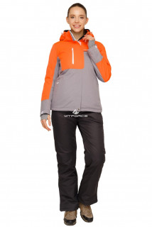 Купить оптом костюм горнолыжный женский персикового цвета 01777P в интернет магазине MTFORCE.RU
