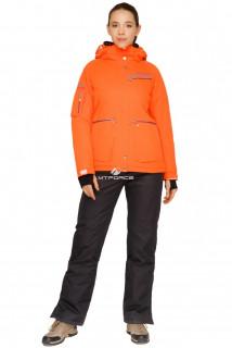 Купить оптом костюм горнолыжный женский оранжевого цвета 01778O в интернет магазине MTFORCE.RU