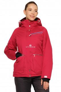 Купить оптом куртку горнолыжную женскую малинового цвета 1778M в интернет магазине MTFORCE.RU