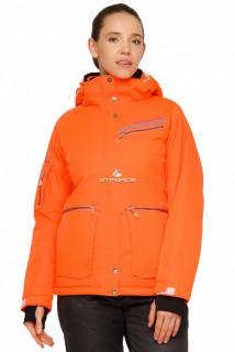 Купить оптом куртку горнолыжную женскую оранжевого цвета 1778О в интернет магазине MTFORCE.RU