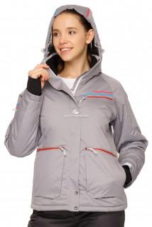 Купить оптом куртку горнолыжную женскую серого цвета 1778Sr в интернет магазине MTFORCE.RU
