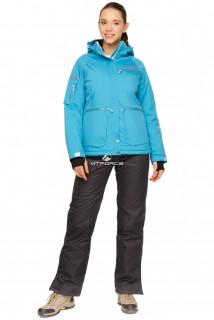 Купить оптом костюм горнолыжный женский голубого цвета 01778Gl в интернет магазине MTFORCE.RU