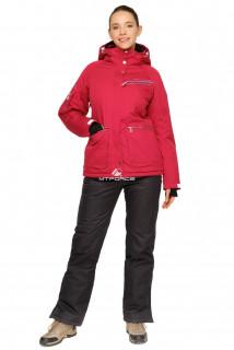 Купить оптом костюм горнолыжный женский малинового цвета 01778M в интернет магазине MTFORCE.RU