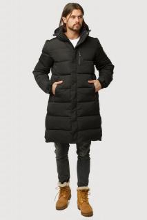 Купить оптом куртку зимнию удлиненную мужскую черного цвета 1780Ch в интернет магазине MTFORCE.RU