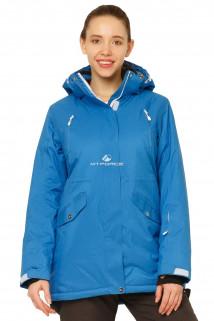 Купить оптом куртку горнолыжную женскую большого размера синего цвета 1783S в интернет магазине MTFORCE.RU