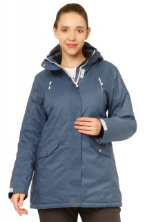 Купить оптом куртку горнолыжную женскую большого размера голубого цвета 1783Gl в интернет магазине MTFORCE.RU