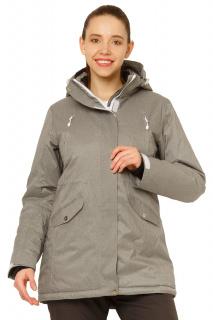 Купить оптом куртку горнолыжную женскую большого размера серого цвета 1783Sr в интернет магазине MTFORCE.RU