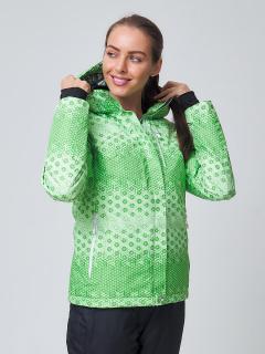 Купить оптом куртку горнолыжную женскую зеленого цвета 1786Z в интернет магазине MTFORCE.RU