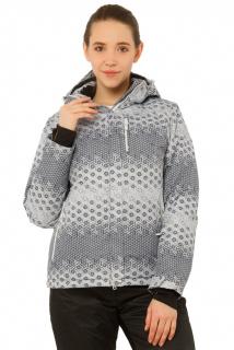 Купить оптом куртку горнолыжную женскую большого размера серого цвета 17881Sr в интернет магазине MTFORCE.RU