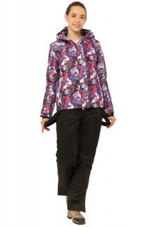 Купить оптом костюм горнолыжный женский фиолетового цвета 01787F в интернет магазине MTFORCE.RU