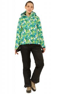 Купить оптом костюм горнолыжный женский зеленого цвета 01787Z в интернет магазине MTFORCE.RU