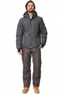 Купить оптом костюм горнолыжный мужской темно-серого цвета 01788TC в интернет магазине MTFORCE.RU