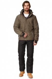 Купить оптом костюм горнолыжный мужской цвета хаки 01788Kh в интернет магазине MTFORCE.RU