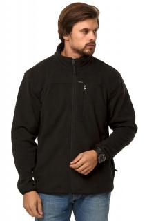 Купить оптом толстовка мужская утепленная черного цвета 1790Ch в интернет магазине MTFORCE.RU