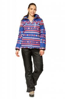 Купить оптом костюм горнолыжный женский синего цвета 01795S в интернет магазине MTFORCE.RU