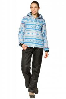 Купить оптом костюм горнолыжный женский серого цвета 01795Sr в интернет магазине MTFORCE.RU