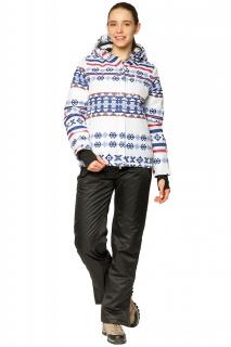 Купить оптом костюм горнолыжный женский белого цвета 01795Bl в интернет магазине MTFORCE.RU