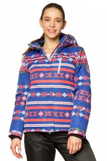 Купить оптом куртку горнолыжную женскую синего цвета 1795S в интернет магазине MTFORCE.RU