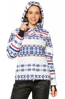 Купить оптом куртку горнолыжную женскую белого цвета 1795Bl в интернет магазине MTFORCE.RU
