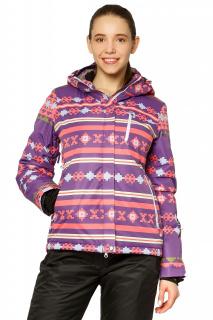 Купить оптом куртку горнолыжную женскую фиолетового цвета 1795F в интернет магазине MTFORCE.RU