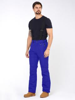 Горнолыжные брюки мужские зимние синего цвета купить оптом в интернет магазине MTFORCE 18005S