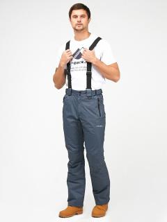 Горнолыжные брюки мужские зимние темно-серого цвета купить оптом в интернет магазине MTFORCE 18005TC