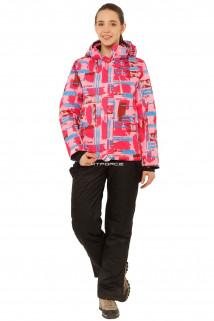 Купить оптом костюм горнолыжный женский розового цвета 01801R в интернет магазине MTFORCE.RU