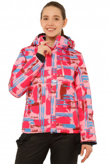 Купить оптом куртку горнолыжную женскую розового цвета 1801R в интернет магазине MTFORCE.RU