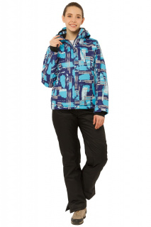 Купить оптом костюм горнолыжный женский фиолетового цвета 01801F в интернет магазине MTFORCE.RU