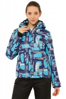 Купить оптом куртку горнолыжную женскую фиолетового цвета 1801F в интернет магазине MTFORCE.RU